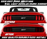 2015 2016 2017 Ford Mustang Dark Smoke Tail Light Overlay Tint American Muscle