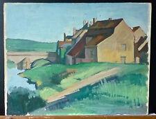 """Jean MONTCHOUGNY(1915-2008):huile,1955,""""La Charité-sur-Loire Le Faubourg"""",signée"""