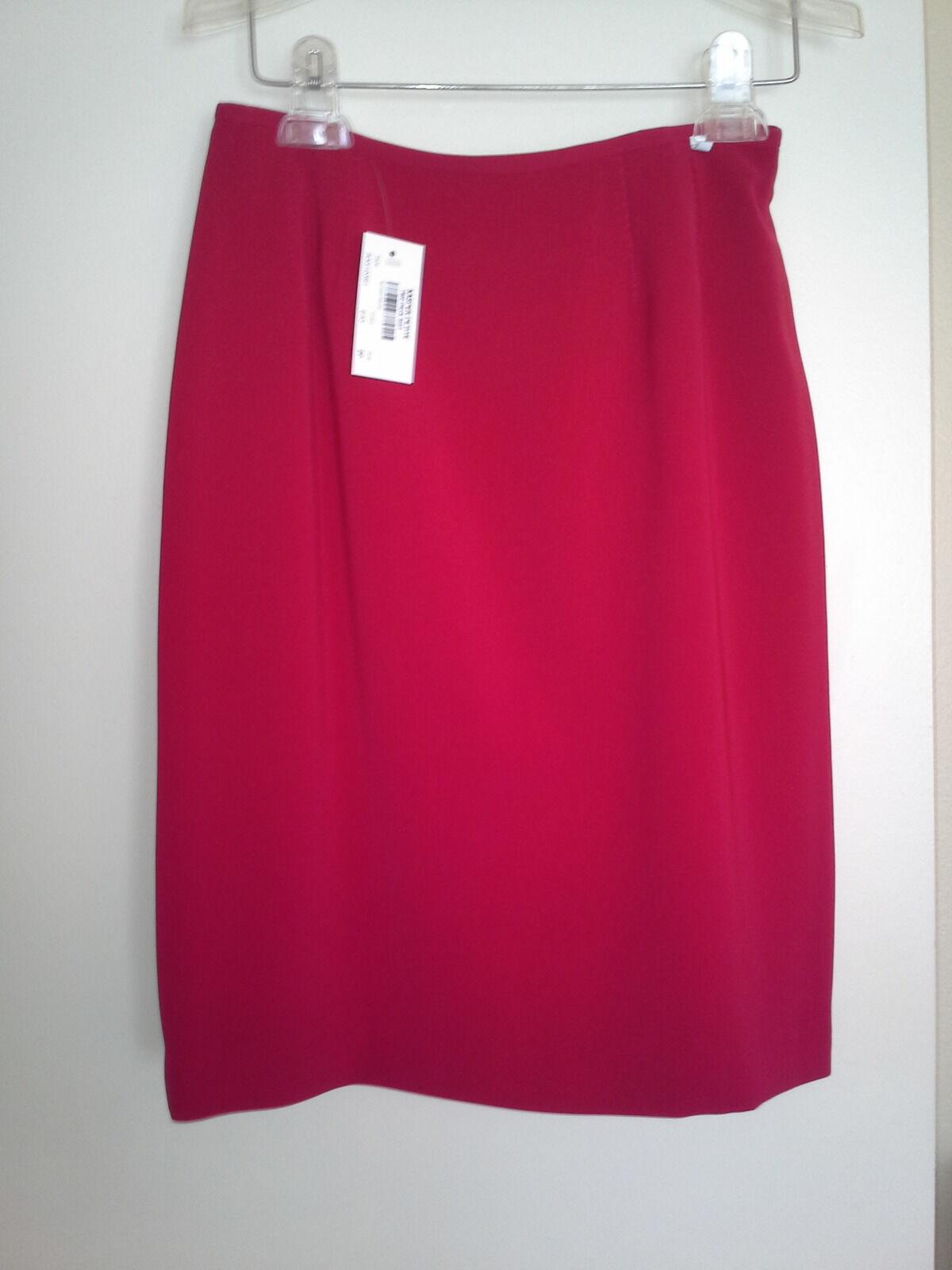 Suit, red, size 2, KASPER new.   skirt waist 27