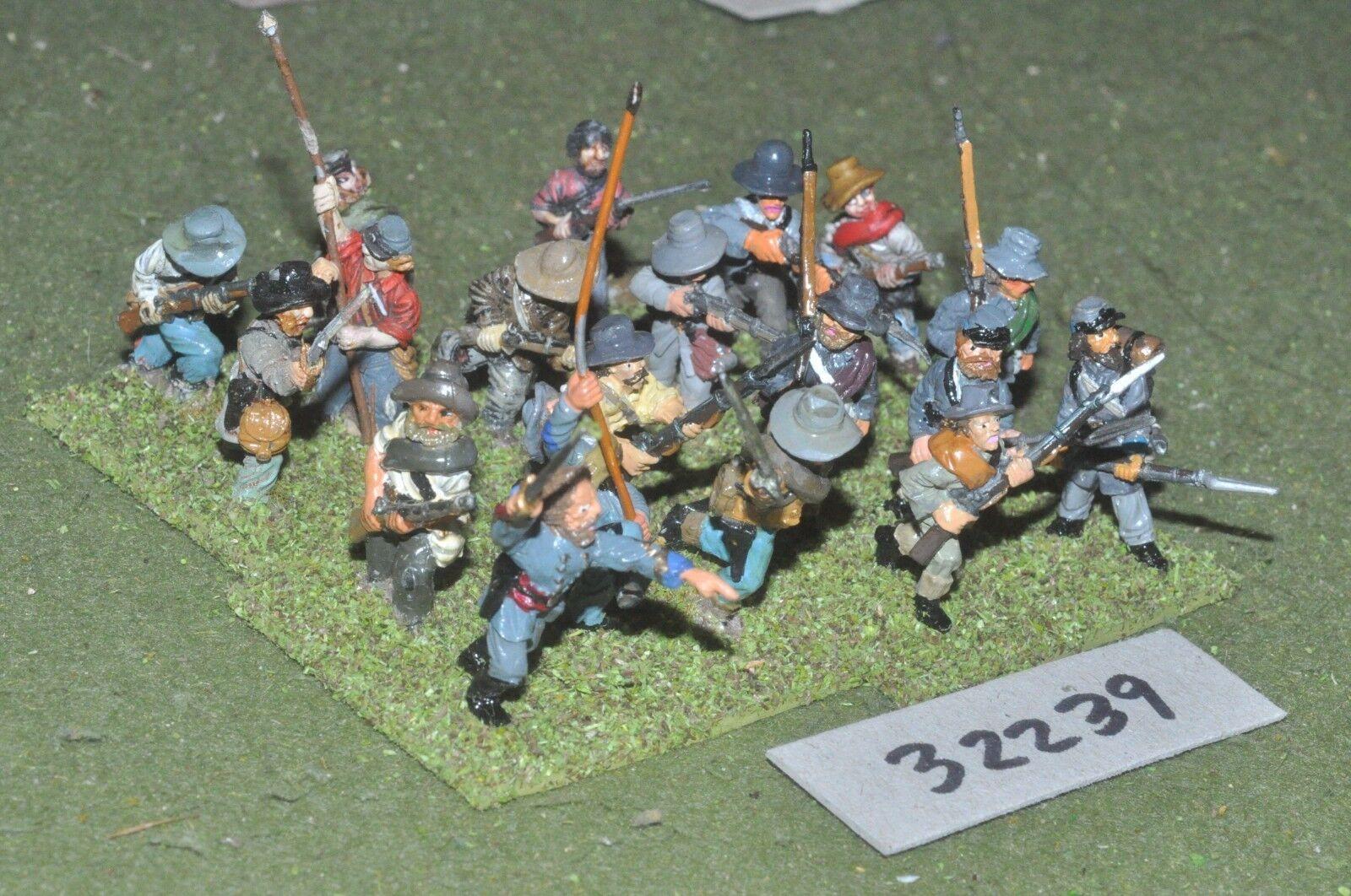 25mm ACW   confederate - regt. 20 figures - inf (32239)