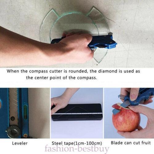 Multifunction Foldable Manual Glass Tile Cutter Sharpener Craft Cutting Tool