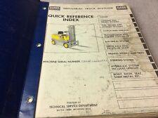 Clark Equipment C40b Operation Amp Parts Book Manual Forklift