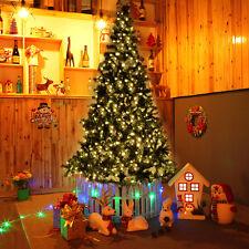 8 ft Pre-lit Artificial Christmas Tree w/450 LED Lights & Stand Holiday Season
