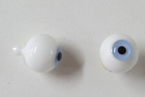 Yeux poupée ancienne Bleu clair 22mm light Blue mouth blown eyes  antique doll