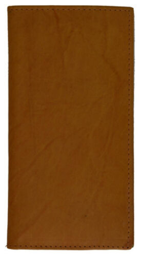 Tan Genuine Leather Checkbook Cover Organizer Long Clutch Wallet ID Money Holder