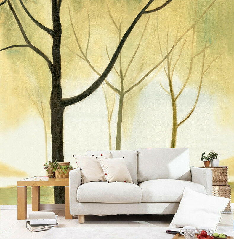 3D Grün Woods 817 Wallpaper Mural Paper Wall Print Wallpaper Murals UK Lemon
