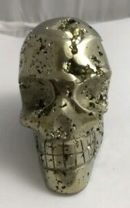 Gorgeous-pyrite-crystal-skull-Peru-417-9-grams-AAA-fools-gold