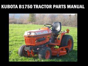 kubota b1750 tractor parts manuals 300pg for b 1750 hst d repair rh ebay com kubota b1750 operators manual kubota b1750 service manual