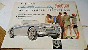 depliant-pubblicitario-AUSTIN-HEALEY-3000-originale-Inglese-anni-039-50
