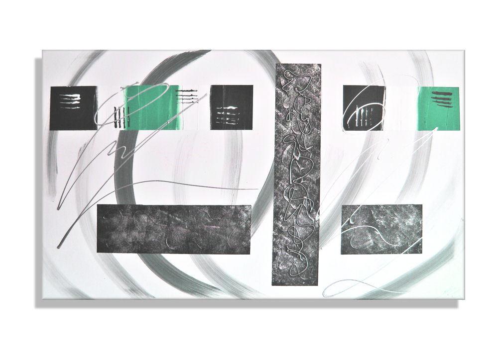 Mk1 tipo de imagen arte lienzo abstracto pinturas arte imagen pintura acrílico imágenes petrol gris XL d3d1af