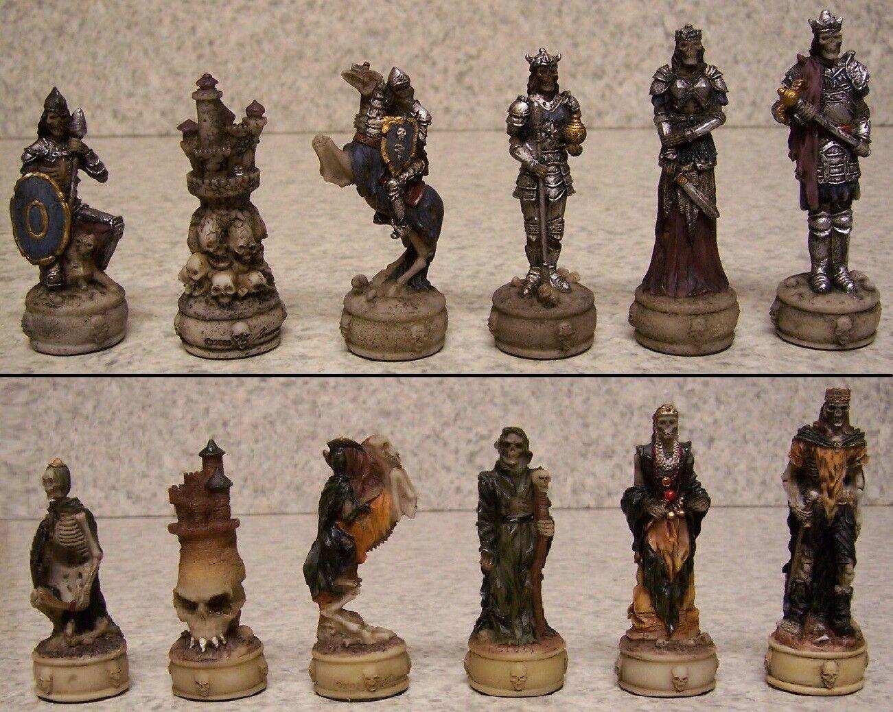 Ven a elegir tu propio estilo deportivo. Conjunto De De De Piezas De Ajedrez Caballeros Medievales Esqueleto Nuevo  la mejor selección de