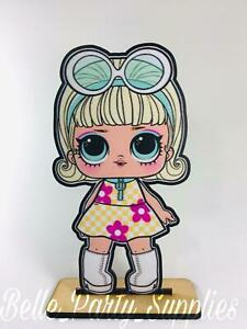 """10"""" Wood Centerpiece INSPIRED by Surprise Dolls Party Table Birthday Decoration"""