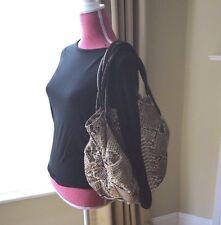 Nancy Gonzalez  Brown Beige Python and Brown Crocodile Tote Bag