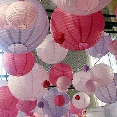 "5/10/20pcs 8""12""16""20"" Lot Color Chinese Paper Lanterns Wedding Party Decoration"