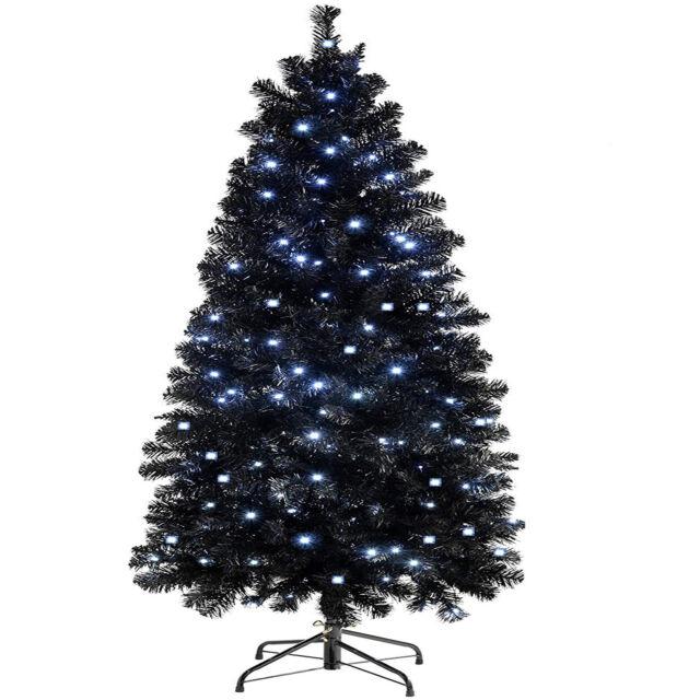 Slim Flocked Christmas Tree With Lights.Christmas Tree Xmas Colorado Spruce 7ft Pre Lit Warm N Cool White Lights Led