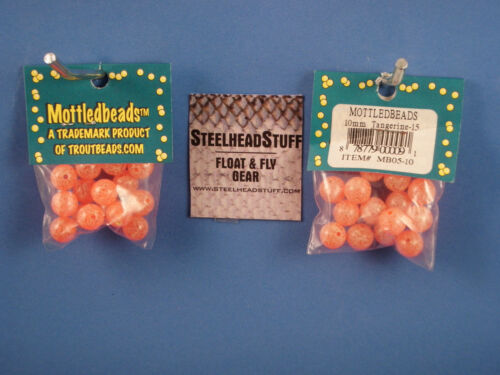Troutbeads Mottled Tangerine 8mm Trout  Bead Egg $2.50 US Combined Shipping*