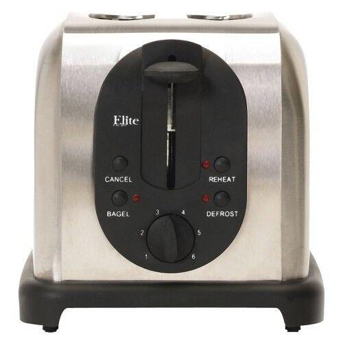Elite Platinum  2-Slice Stainless Steel Toaster – ECT200