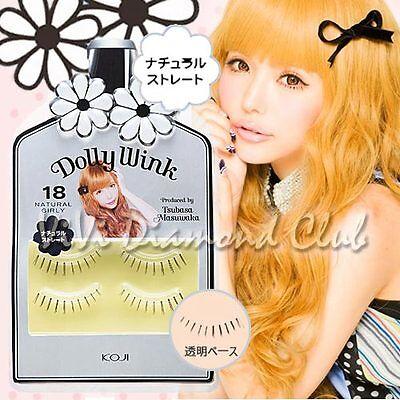 KOJI Dolly Wink False Eyelashes No.18 Natural Girly (2 pairs/ box) NEW Version