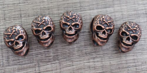 Lot 10 M Copper Skull Bead Paracord Lanyards Bracelets Crafts Charms Jewelry DIY