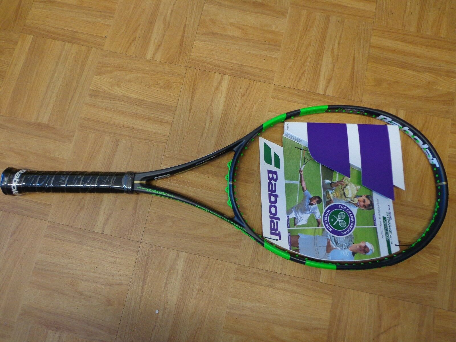 NEW Babolat Pure Strike Wimbledon 98 head 16x19 4 5/8 grip Tennis Racquet