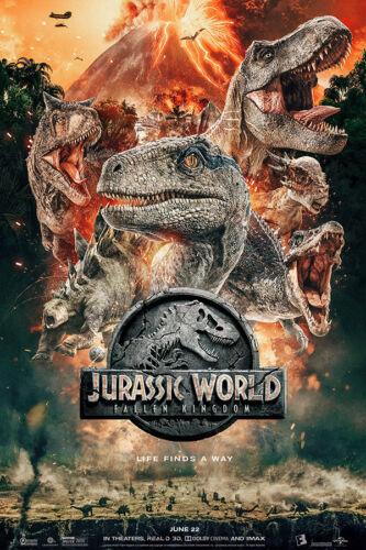 """Jurassic World Fallen Kingdom Poster 48x32/"""" 36x24/"""" 21x14/"""" Movie 2018 Print Silk"""