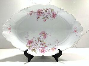 Vintage-Habsburg-China-Austria-Oval-Serving-Platter-Family-Dinner-Plate-15-034-x10-034