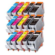 15PK Combo Printer Ink chipped for Canon PGI-5BK CLI-8 MP500 MP530 MP600 MP610