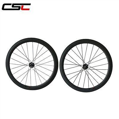 CSC 25 wide Disc Brake hub 50mm tubular carbon Cyclocross bike wheels 12*100mm