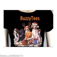 Christmas Puppies T-shirt, X-mas Toys, Candy Canes, Santa Hat, Playful Tee