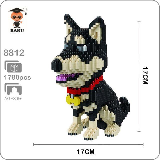 Babu Cartoon Snoopy White Dog Animal Diamond DIY Mini Building Nano Blocks Toy