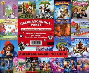 10-CDs-KINDER-HORSPIELE-ZUFALLSAUSWAHL-UEBERRASCHUNGS-PAKET-NEU-OVP-amp