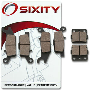 Front-Rear-Organic-Brake-Pads-2008-Yamaha-YFM250-Raptor-SE-Set-Full-Kit-cr