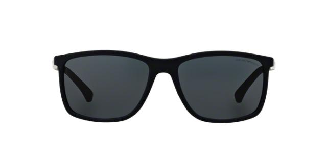 e2fdbd1fb6568 NWT Emporio Armani Sunglasses EA 4058 5474 87 Rubber Blue   Gray 58mm  547487 NIB