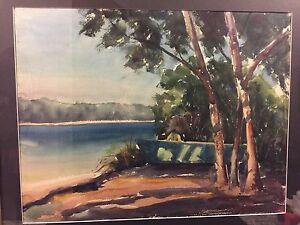 Mel-Stark-Melville-Stark-1903-1987-Watercolor-signed-Rare-Medium-For-Stark