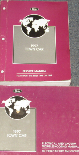 1997 Lincoln Town Car Service Shop Workshop Repair Manual Set W Ewd Oem