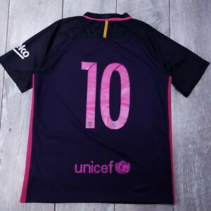 Nike-Barcelona-Barca-10-Messi-Soccer-Football-Jersey-Mens-Medium-2016-2017-T18