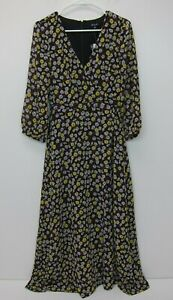 MADEWELL-Women-039-s-Wrap-Front-Maxi-Dress-Size-00-French-Floral-NWT