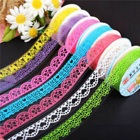 2X Lace Sticky Paper SELF-adhesive Washi Tape Sticker Scrapbooking Decor DIY