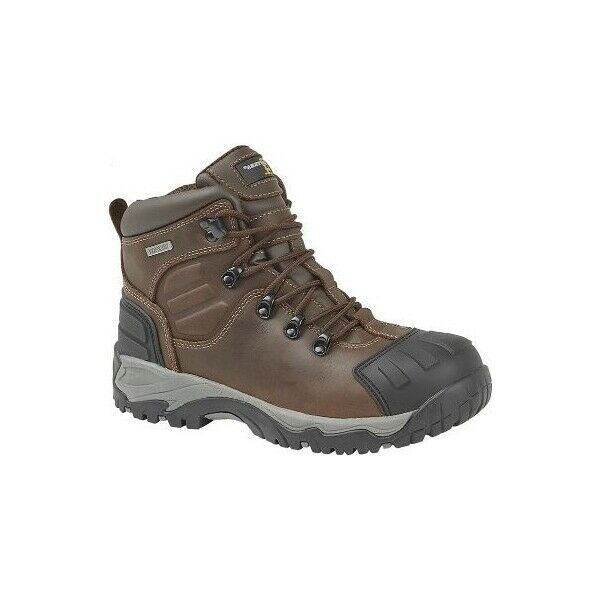 Grafters M514B Mens Smooth Genuine Leather Strong Durable Safety Boots Brown