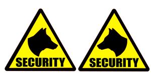 SECURITY DOG Head Sticker Stickers K9 Unit SIA DOG your text Custom 140mm x 2