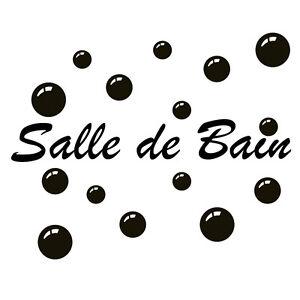 Détails sur Sticker Décoration Texte Salle de Bain + Bulles de Savon (de 30  cm à 80 cm)