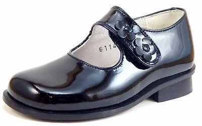 Size 10-5 Girls Black Patent European Dress Mary Jane Shoes DE OSU B-6114