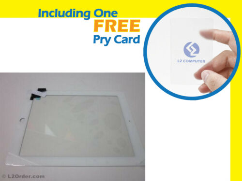 NEW LCD LED Touch Screen Glass  for Apple iPad 2 White with Middle Bezel