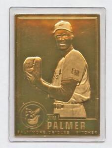 Details About Danbury Mint 22kt Gold Baseball Card Jim Palmer 4 Baltimore Orioles