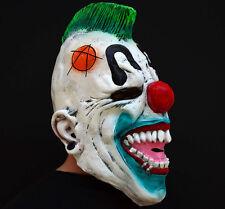 Creepy Evil Scary Halloween Clown Mask Rubber Latex Punked Clown FREE SHIP