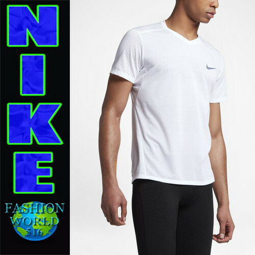68064b9bc29f Nike Men s Size 2xl Tailwind Breathe V-neck Running Top White 833136 for  sale online