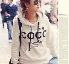 MODA Femme COCO Imprimé pulóver veste à capuche sweat shirt Fleece Hoodie suéter