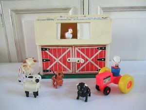 Ancienne-Ferme-Family-Farm-Play-Fisher-Price-Ref-915-Vintage-Avec-Animaux
