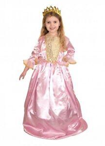 GIRLS-DELUXE-PRINCESS-PINK-TUDOR-MEDIEVAL-ELIZABETHAN-QUEEN-FANCY-DRESS-COSTUME