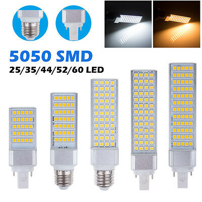 Nuevo Bombillas Focos G24 E27 5050 SMD LED Spot Light Bulb Lamp Warm Cool White